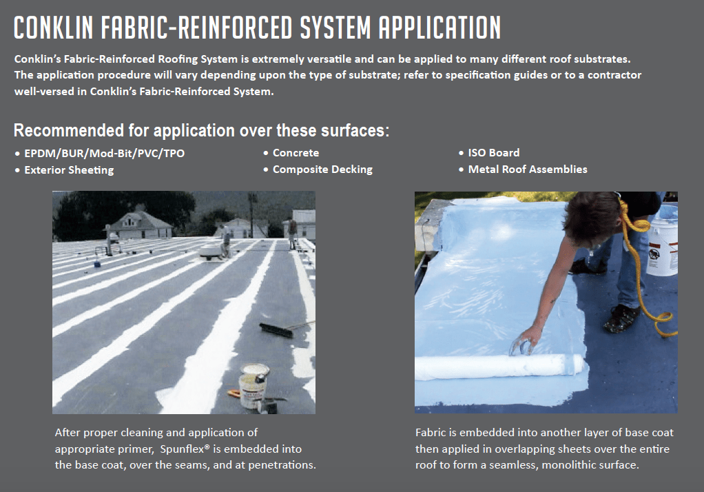 fabric reinforced system application